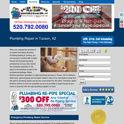 Plumbing Repair Services in Tucson AZ