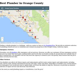 OC Plumbing Pros - Serving all of Orange County, CA