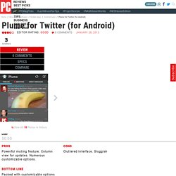 Plume for Twitter (for Android) Review