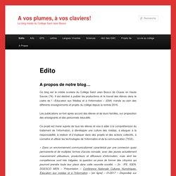 Media - sous forme de blog - Collège