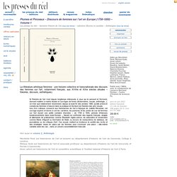 Plumes et Pinceaux – Discours de femmes sur l'art en Europe (1750-1850)