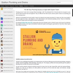 Stallion Plumbing and Drains: Fix All Your Pluming Issues on Spot with Expert Team