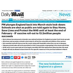 PM plunges England back into March-style lock-down
