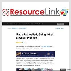 iPad uPad wePad; Going 1-1 at St Oliver Plunkett