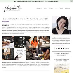 Blog — Plurabelle Calligraphy & Design Studio