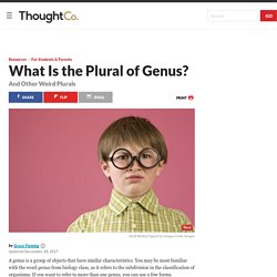 The Plural of Genus (And Other Irregular Plurals)
