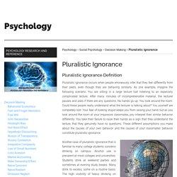 Pluralistic Ignorance (SOCIAL PSYCHOLOGY) - iResearchNet