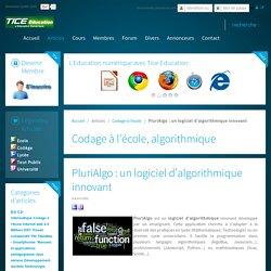 PluriAlgo : un logiciel d'algorithmique innovant