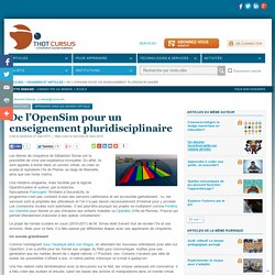 De l'OpenSim pour un enseignement pluridisciplinaire