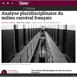 Analyse pluridisciplinaire du milieu carcéral français