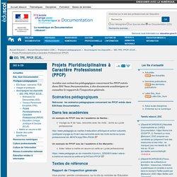 Projets Pluridisciplinaires à Caractère Professionnel (PPCP) — Documentation (CDI)