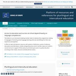 Plateforme de ressources et de références pour l'éducation plurilingue et interculturelle