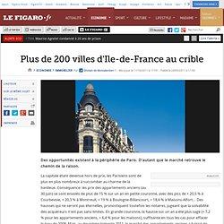 Immobilier : Plus de 200 villes d'Ile-de-France au crible