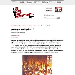 Plus que du hip hop