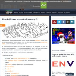 Plus de 50 idées pour votre Raspberry Pi