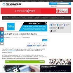 Plus de 200 labels se retirent de Spotify