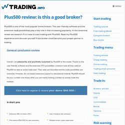 Plus500 review: is Plus500 a quality broker? – Trading.info