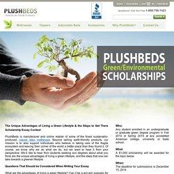 PlushBeds Green Scholarship