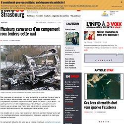 Plusieurs caravanes d'un campement rom brûlées cette nuit