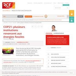 COP21: plusieurs institutions renoncent aux énergies fossiles
