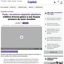 Paris : un escroc empoche plusieurs milliers d'euros grâce à une fausse annonce de sous-location
