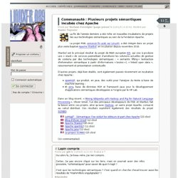 DLFP: Plusieurs projets sémantiques incubés chez Apache