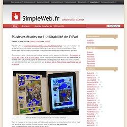 Plusieurs études sur l'utilisabilité de l'iPad