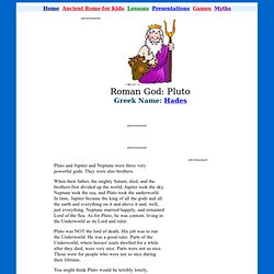 Pluto - Ancient Roman Gods for Kids