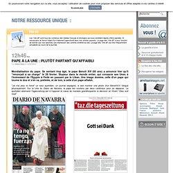 Pape à la Une : plutôt partant qu'affaibli