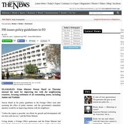 PM issues policy guidelines to FO