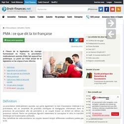PMA : ce que dit la loi française