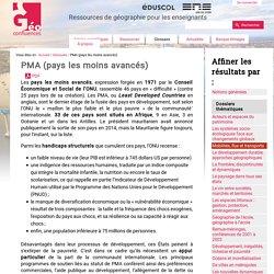 PMA (Pays les Moins Avancés)