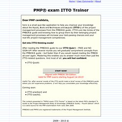 Itto s of the project management processes from the pmbok 174 guide