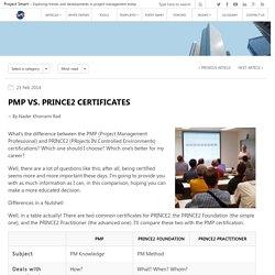 PMP vs. PRINCE2 Certificates