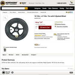 12 1/2in. x 2 1/4in. Tire with 5-Spoked Wheel