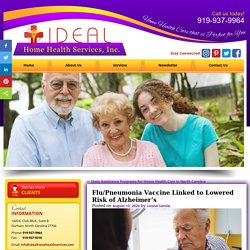 Flu/Pneumonia Vaccine Linked to Lowered Risk of Alzheimer's