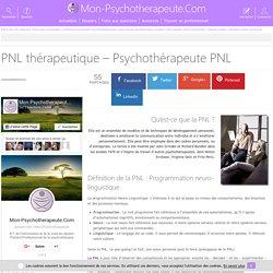 Psychothérapeute PNL - Programmation neuro-linguistique - PNL thérapeutique