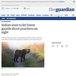 Indian state to let forest guards shoot poachers on sight