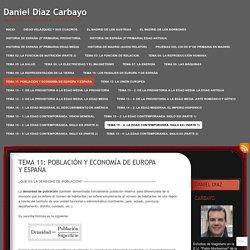 POBLACIÓN Y ECONOMÍA DE EUROPA Y ESPAÑA. Teoría, imágenes y vídeos.