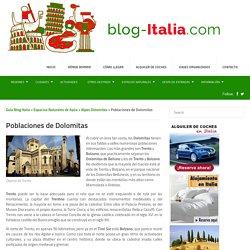 Poblaciones de Dolomitas - Guía Blog Italia