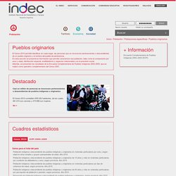 WebINDEC - Poblaci n / Poblaciones espec ficas / Pueblos originarios