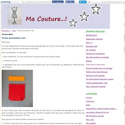 Poches passepoilées: tuto - Ma couture...!