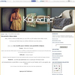 Tuto pochette à bijoux zippée - Kokechic