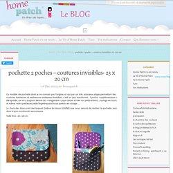 pochette 2 poches – coutures invisibles- 23 x 20 cm