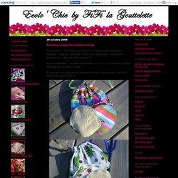 Pochettes à lingettes lavables visage - Créations en coton BIO : Ecolo'chic by FIFi la Gouttelette