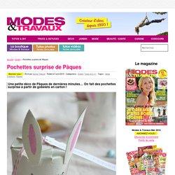 Pochettes surprise de Pâques - Modes & Travaux