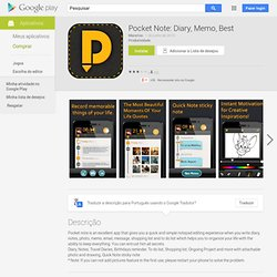 Pocket Note: Diary, Memo, Best