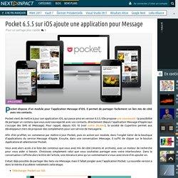 Pocket 6.5.5 sur iOS ajoute une application pour Message
