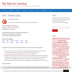 105 – Pocket Casts – Top Tools for Learning