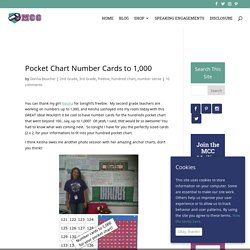 Pocket Chart Number Cards to 1,000